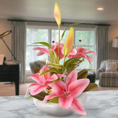 18 in. Pink Lily Flowers