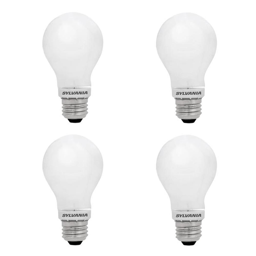Sylvania Sylvania 100-Watt Equivalent A21 Dimmable Double Life Household LED Light Bulb Warm White (4-Pack)
