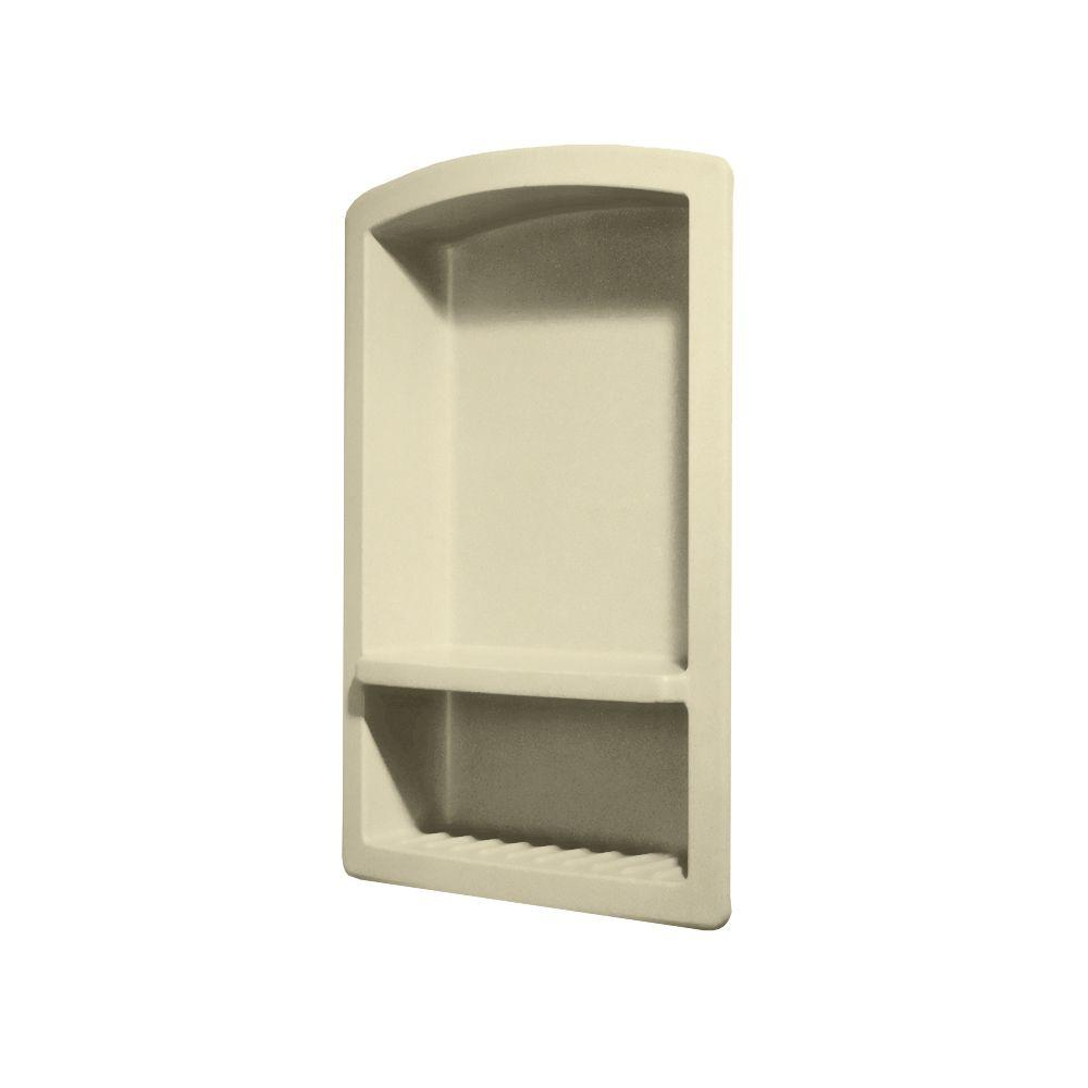 Swan Recessed Wall-Mount Solid Surface Soap Dish and Acce...