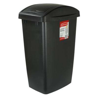Trash Cans And Wastebaskets Best Plastic SwingPush Trash Cans Trash Recycling The Home Depot