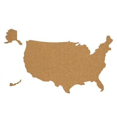 Brown USA Cork Map Pinboard Decal