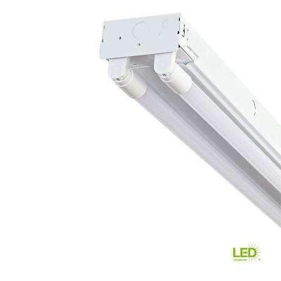 4 ft. 2-Light T8 Industrial LED White Strip Light with 1800 Lumen DLC Flex Tubes 3500K