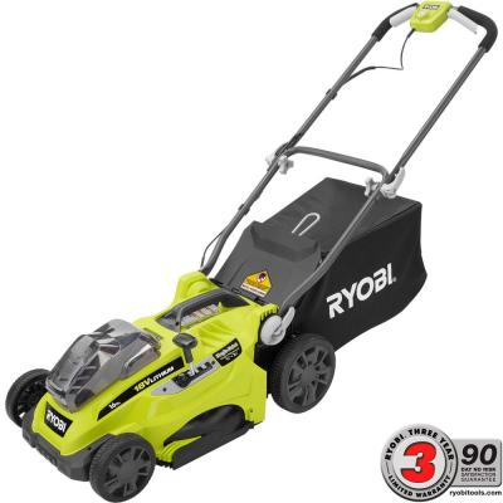 Ryobi 16 in. ONE+ 18-Volt Lithium-Ion Cordless Lawn Mower