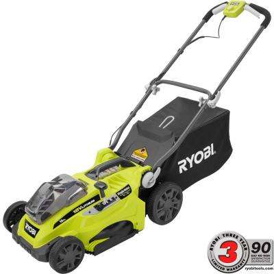 16 in. ONE+ 18-Volt Lithium-Ion Cordless Battery Push Lawn Mower - Two 4.0 Ah Batteries and Charger Included