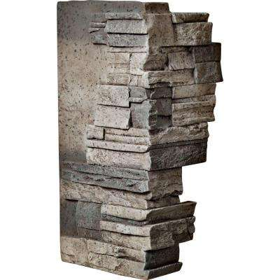 1-1/2 in. x 12 in. x 25 in. Platinum Urethane Dry Stack Stone Outer Corner Wall Panel