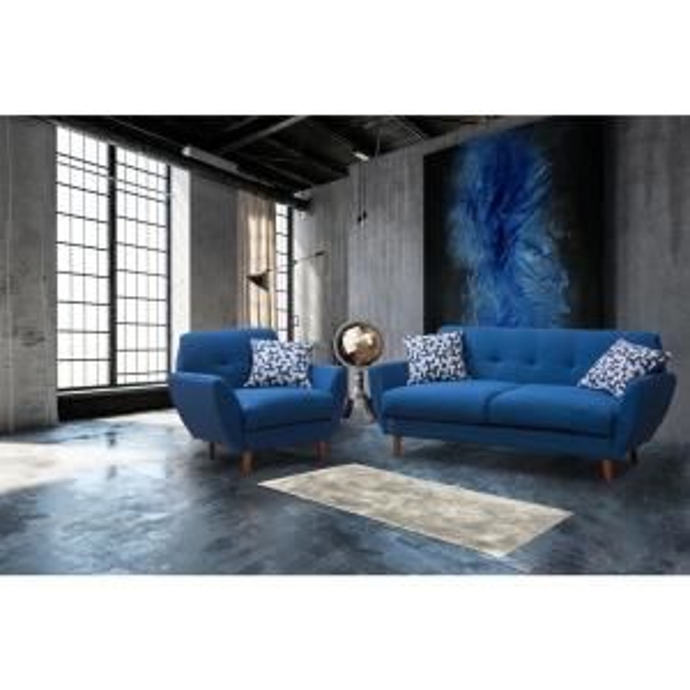 Remarkable Crawford Burke Toronto Blue Linen Arm Chair Hcb168003Cr Hd Cjindustries Chair Design For Home Cjindustriesco