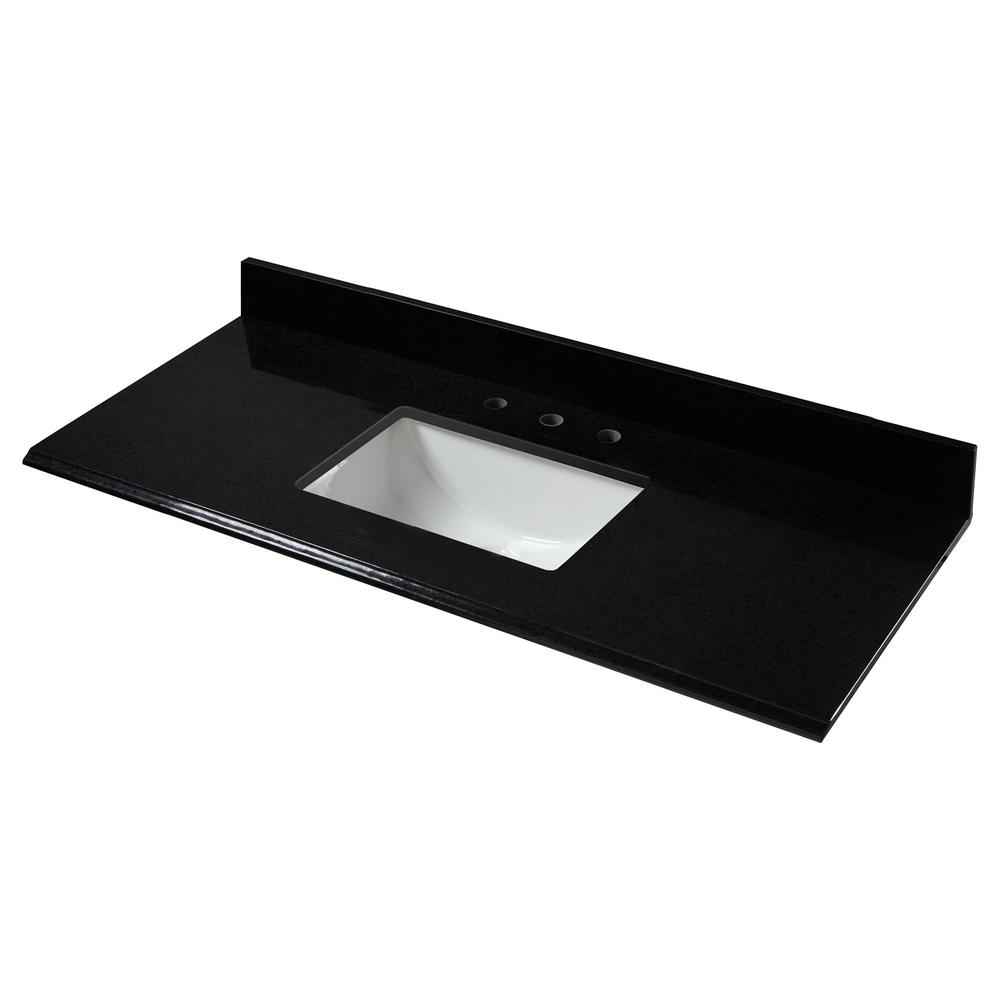 49 in. W x 22 in. D Granite Single Trough Basin