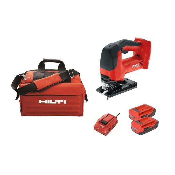 22-Volt SJD 6-A Keyless Cordless Variable Speed Orbital Jig Saw Kit with (2) 2.6 Amp Li-Ion Batteries, Charger and Bag