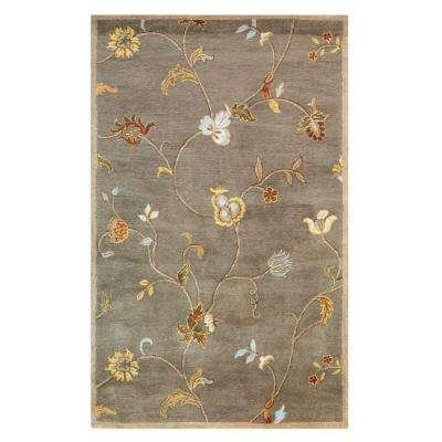 Lenore Grey/Brown 6 ft. x 9 ft. Area Rug