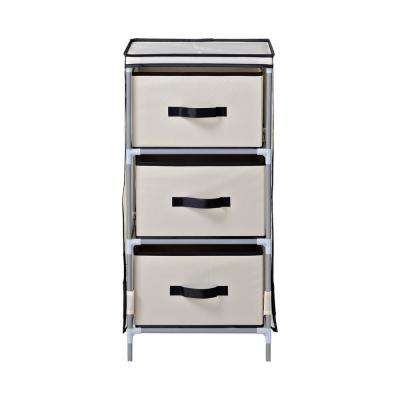 15 In. W X 31 In. H X 15 In. D Beige With