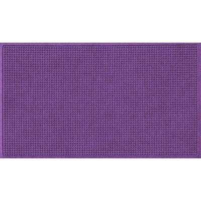 Purple 36 in. x 60 in. Squares Polypropylene Door Mat