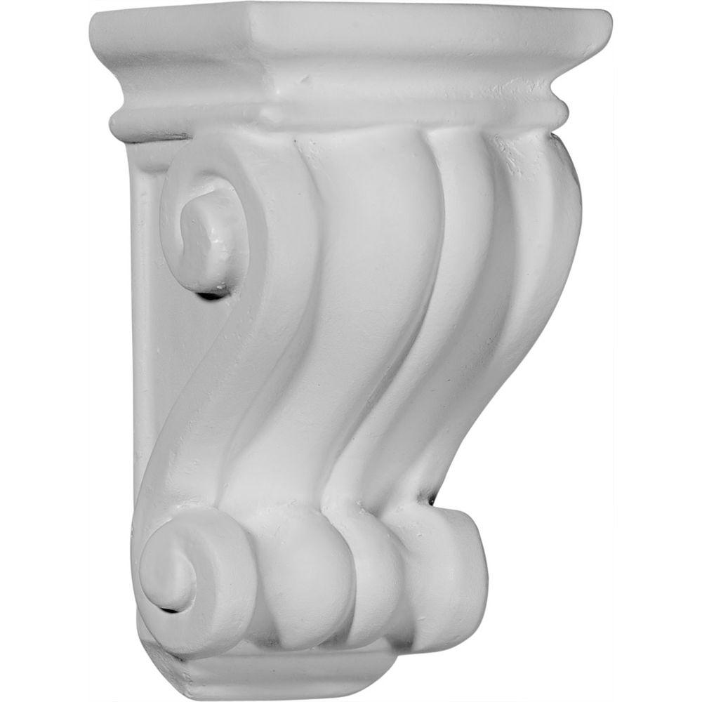 Ekena Millwork 3-1/8 in. x 3 in. x 5-1/4 in. Primed Polyurethane Traditional Cole Pilaster Corbel