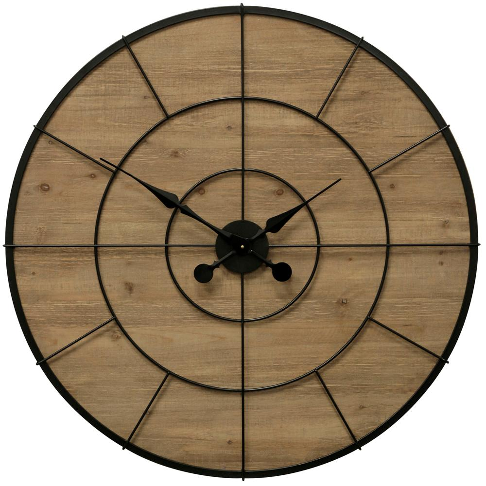 StyleCraft Wood Face Natural, Black Wall Clock, Natural/Black was $236.99 now $97.52 (59.0% off)
