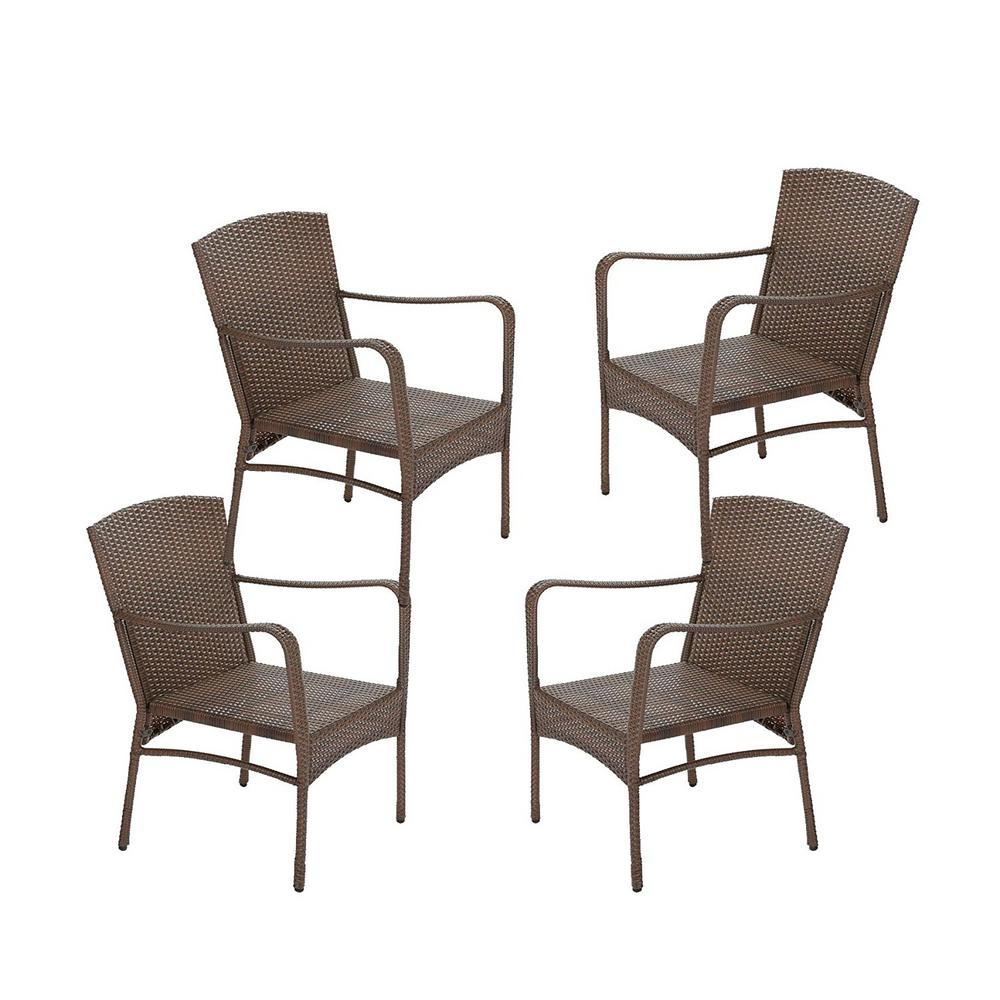 W Unlimited Leisure Brown Wicker Outdoor Lounge Chair 4