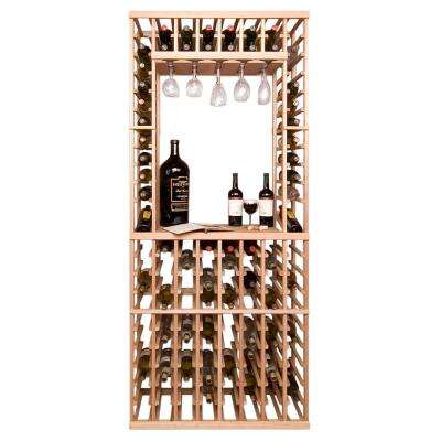 114-Bottle Pine Floor Wine Rack