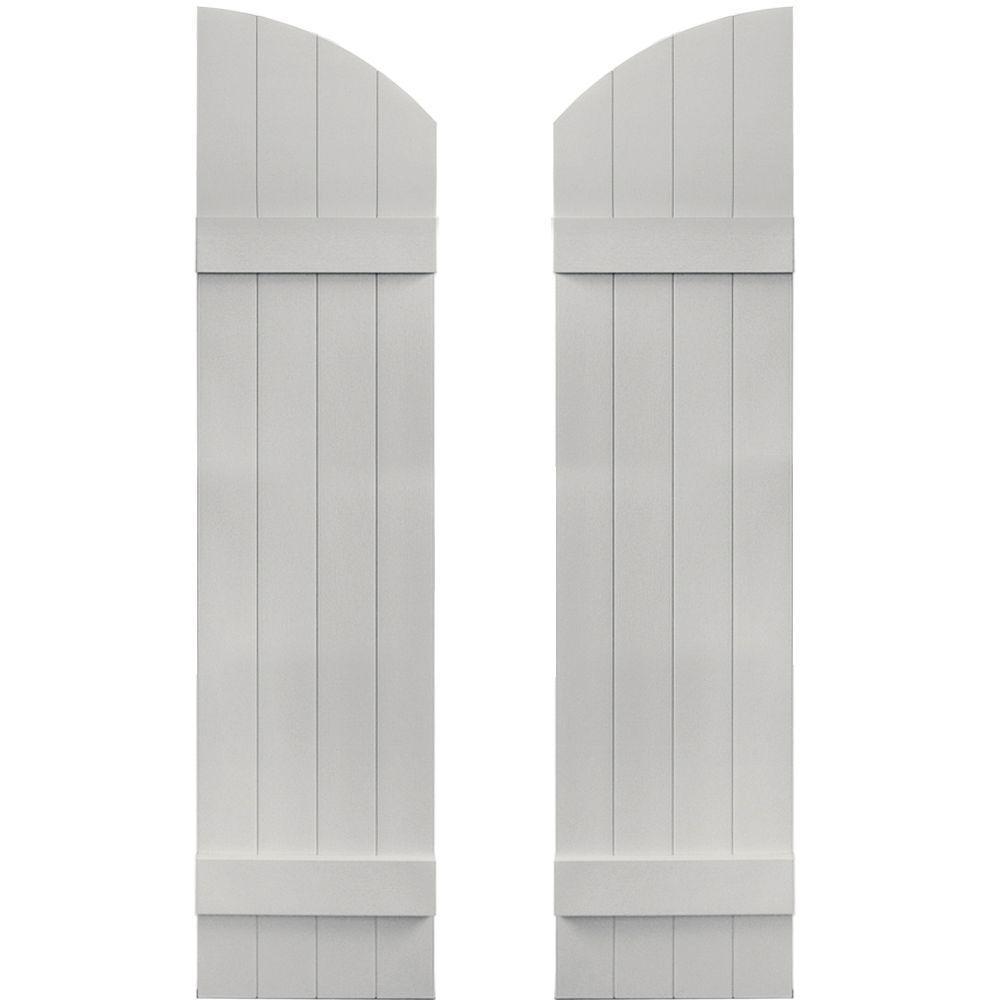 14 in. x 53 in. Board-N-Batten Shutters Pair, 4 Boards Joined