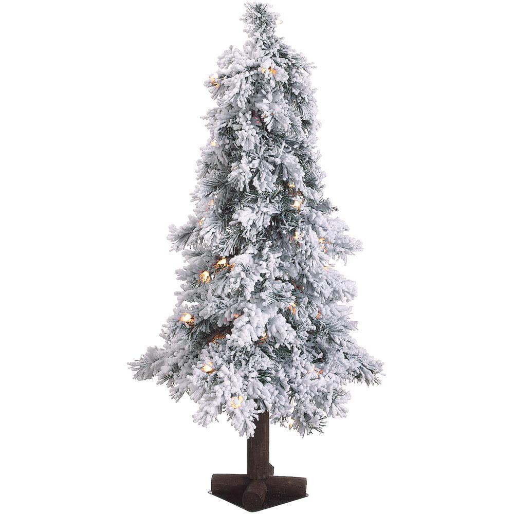 50 Foot Christmas Tree: Fraser Hill Farm 3 Ft. Pre-lit Snowy Alpine Artificial