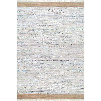 Flatweave Liani Cotton Beige 2 ft. 6 in. x 8 ft. Runner Rug