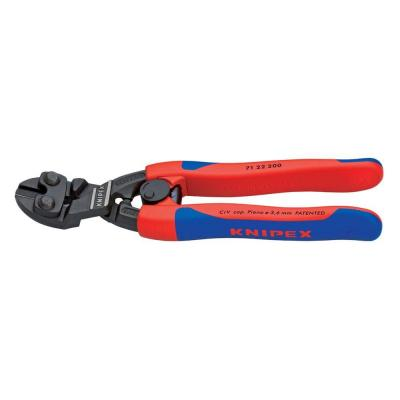 8 in. Angled High Leverage Cobolt Comfort Grip Cutting Pliers