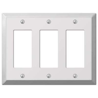 Steel 3 Decora Wall Plate - Chrome