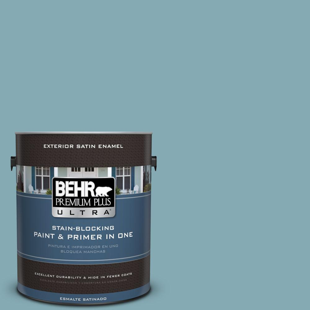 BEHR Premium Plus Ultra 1-gal. #S450-4 Crashing Waves Satin Enamel Exterior Paint