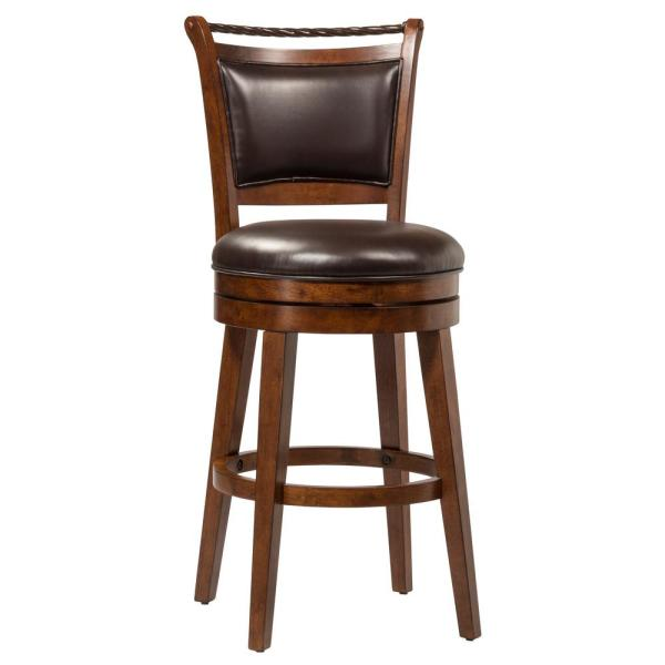 Hillsdale Furniture Calais 30 in. Swivel Bar Stool with a Brown