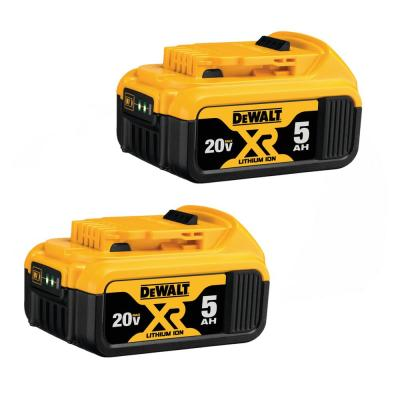 20-Volt MAX XR Premium Lithium-Ion 5.0Ah Battery Pack (2-Pack)