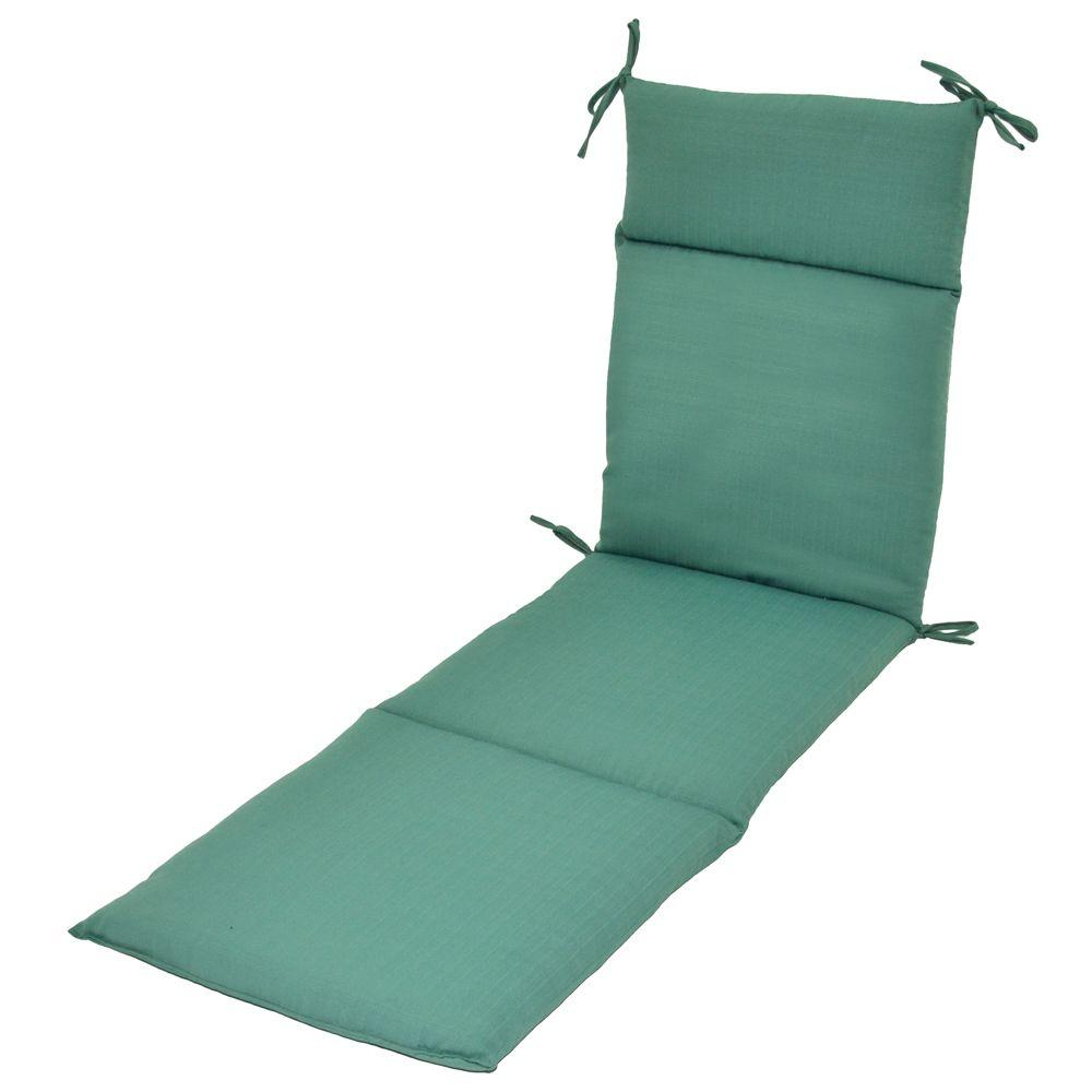 Plantation Patterns Turquoise Textured Outdoor Chaise Lounge Cushion-DISCONTINUED