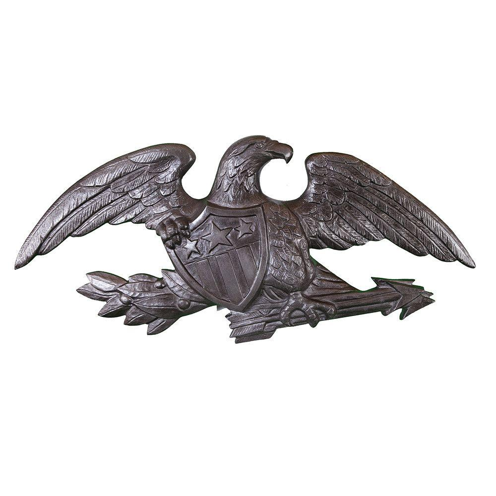 23 in. Deluxe Swedish Iron Wall Eagle