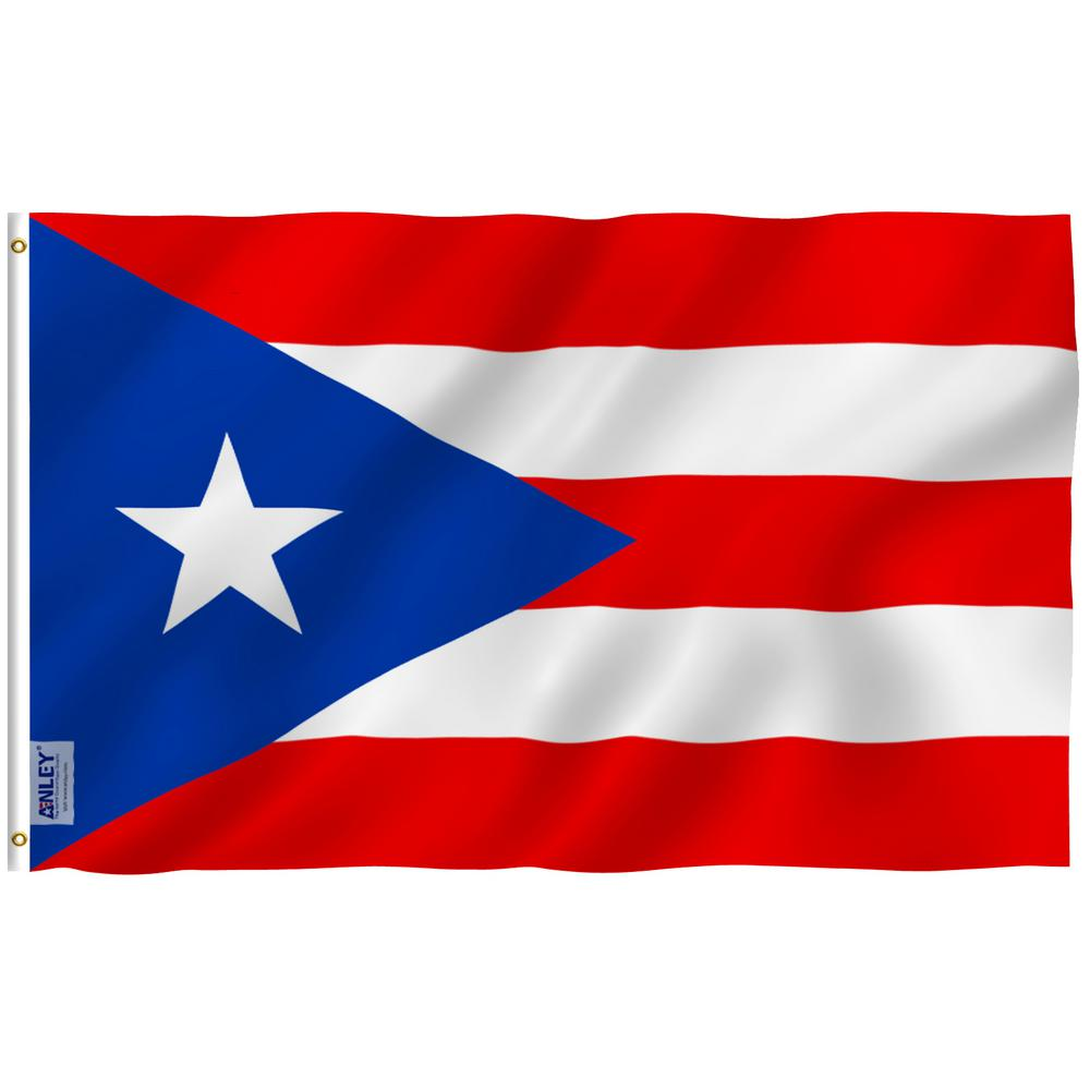 Anley Fly Breeze 3 Ft X 5 Ft Polyester Puerto Rico Flag