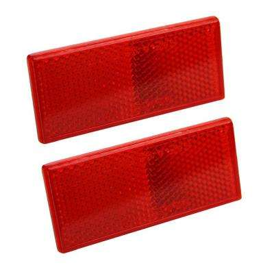 Reflector 3-1/8 in. Self Mount Rectangular Red (2 per Pack)