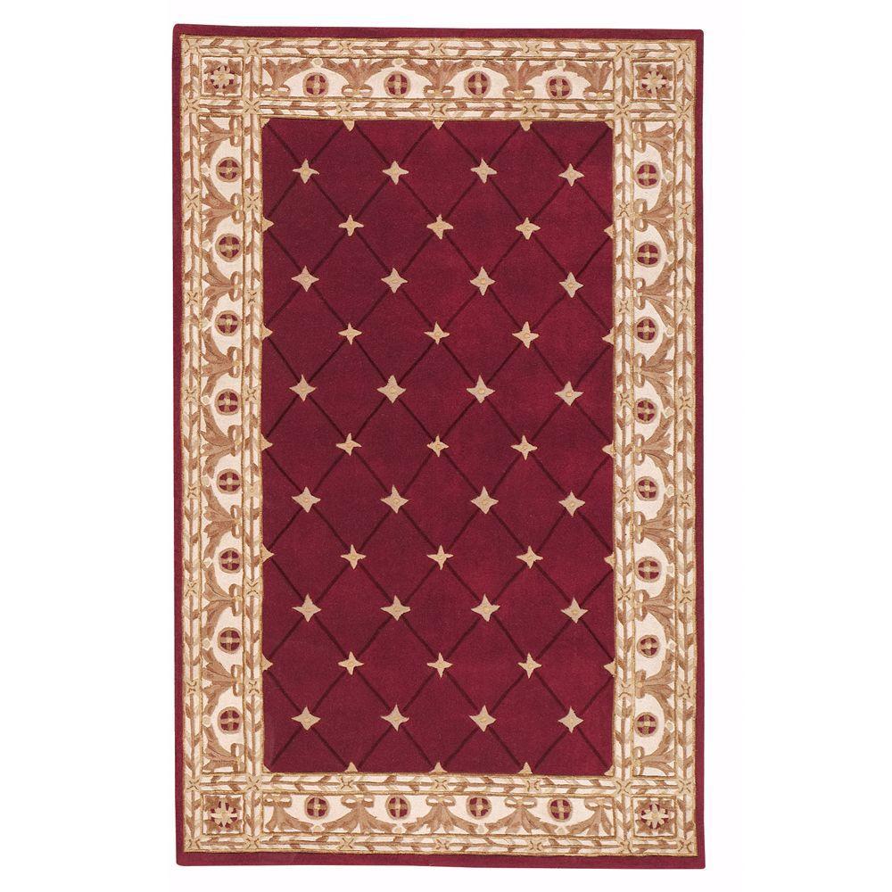 Home decorators collection windsor burgundy 8 ft x 11 ft for Home decorators collection rugs