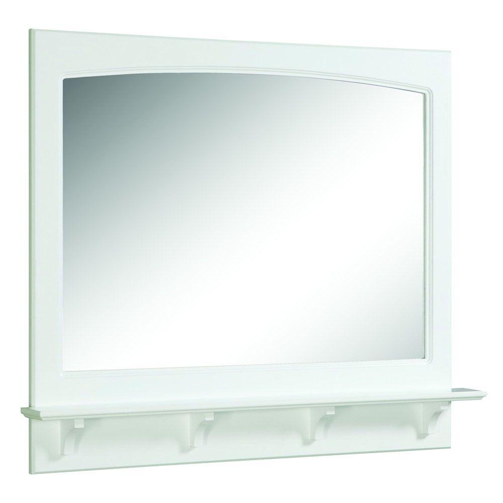 W Framed Wall Mirror With Shelf In