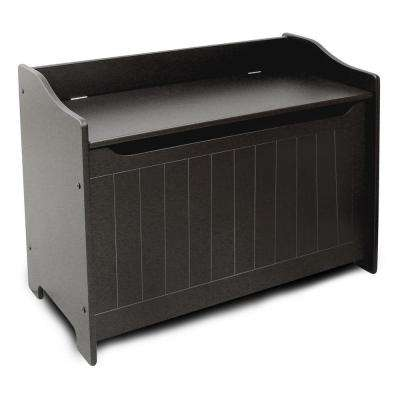 Black Storage  Bench