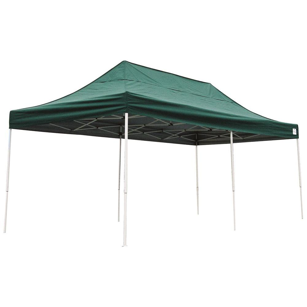 Shelterlogic Pro Series 10 Ft X 20 Ft Green Straight Leg