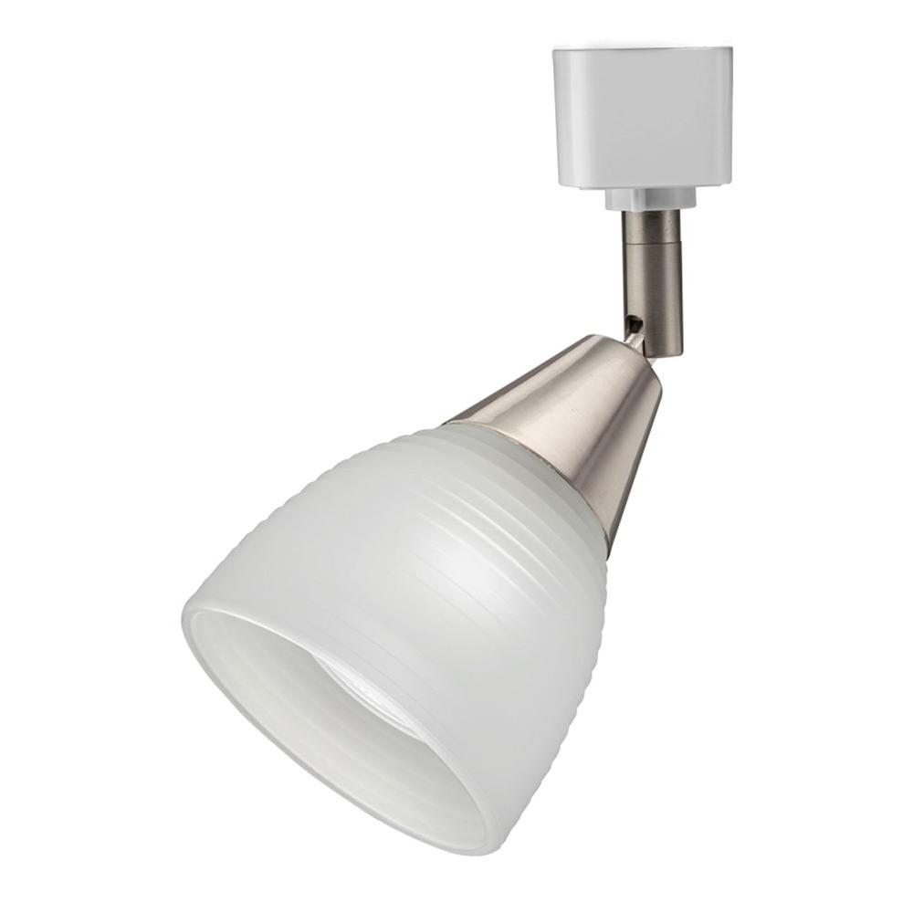 Lithonia Lighting Frosted Ribbed 1 Light Brushed Nickel Track