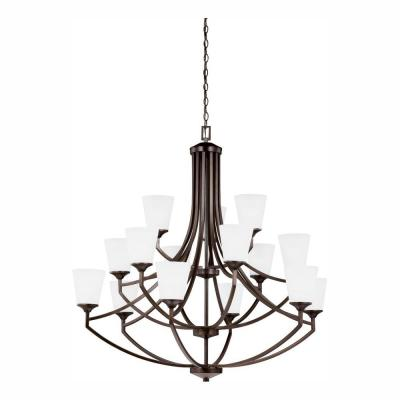 Hanford 15-Light Burnt Sienna Chandelier with LED Bulbs