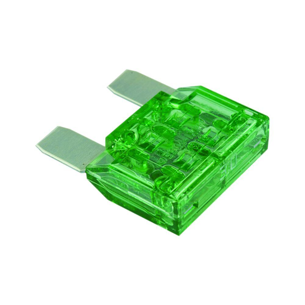 Non Time Delay Two-Blade MAX Fuse in Green