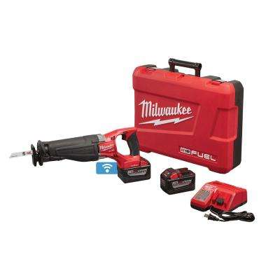 M18 FUEL ONE-KEY 18-Volt Lithium-Ion Brushless Cordless SAWZALL Reciprocating Saw Kit W/(2) 9.0Ah Batteries, Hard Case
