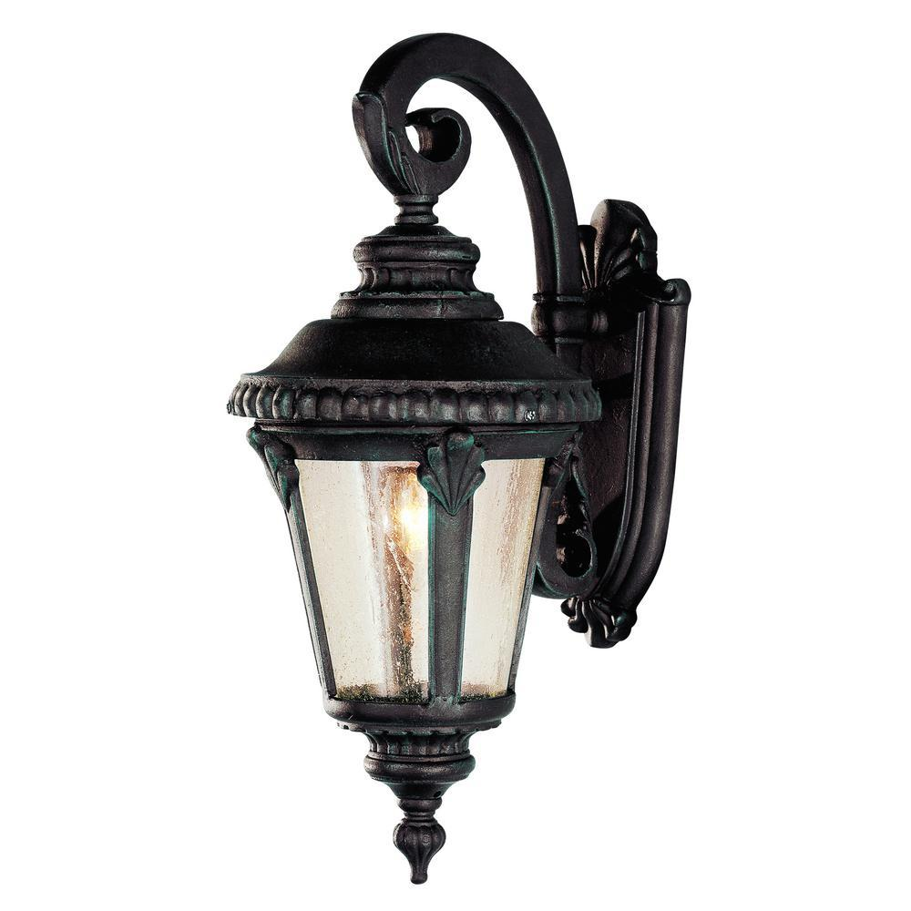 Bel Air Lighting Commons 1 Light Verde Green Outdoor Wall