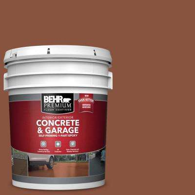 5 gal. #S180-7 True Copper Self-Priming 1-Part Epoxy Satin Interior/Exterior Concrete and Garage Floor Paint