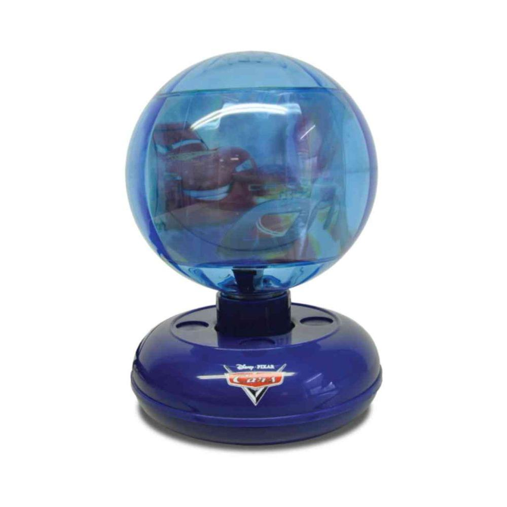 Disney 9 in. Cars Motion Blue Lamp with Rotating Globe-DISCONTINUED