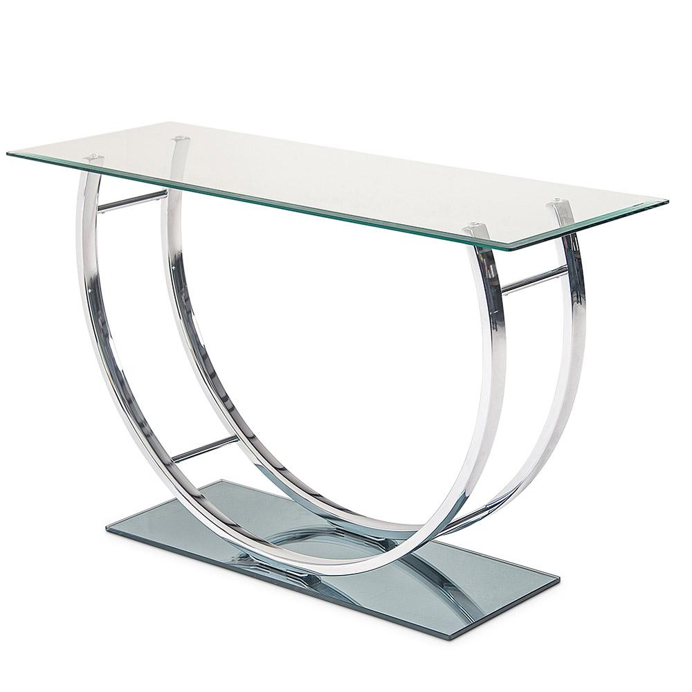 Natalie Glass And Metal Sofa Table Nt200s The Home Depot