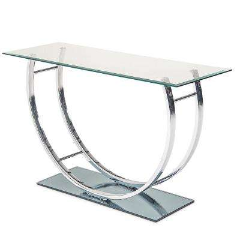 Natalie Glass and Metal Sofa Table