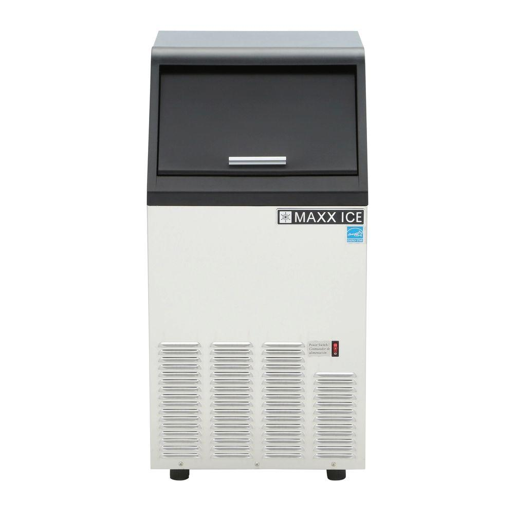 Maxx Ice 75 lb. Freestanding Icemaker in Stainless Steel