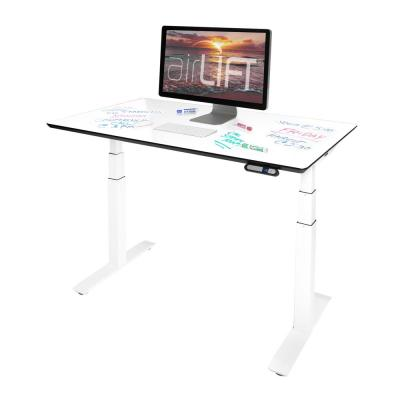 """AIRLIFT Pro S3 54"""" Dry-Erase Board Top Commercial-Grade Electric Adjustable Standing Desk, 54 x 30"""", White/White"""