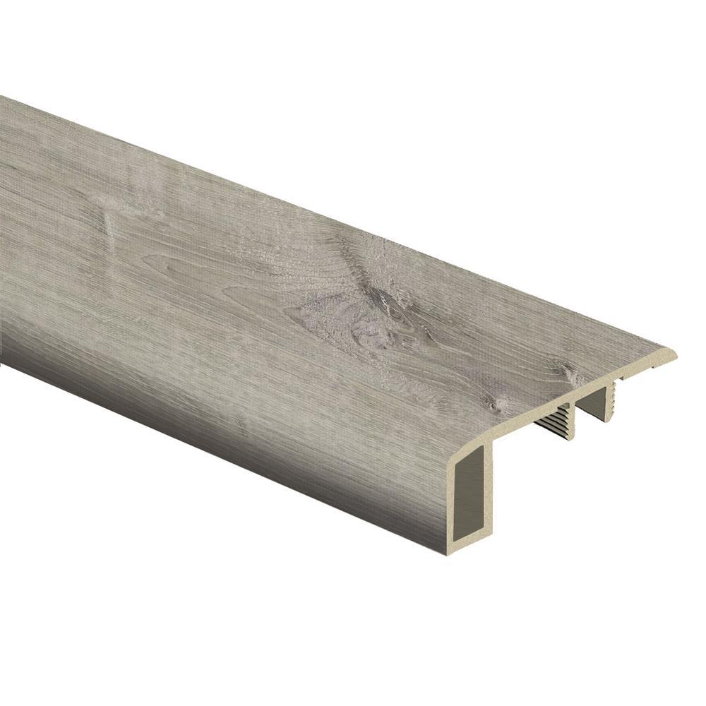 Zamma Sterling Oak/Gray Birch Wood 7/16 in. Thick x 1-3/4 in. Wide x 72 in. Length Vinyl Carpet Reducer Molding