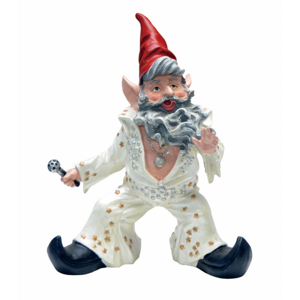 14 in. H Vegas The Gnome The King of Rock n'