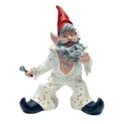 14 in. H Vegas The Gnome The King of Rock n' Roll in His Classic Jumpsuit Collectible Home and Garden Gnome Statue