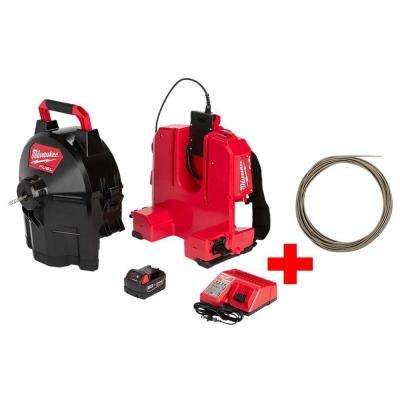 M18 FUEL 18-Volt Brushless Cordless Drain Cleaning 5/16 in. Sectional Drum System Kit W/ Free 5/16 in. x 75 ft. Cable
